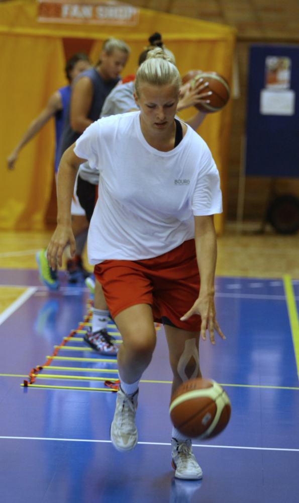Alena Klokočníková na tréninku v Nymburce